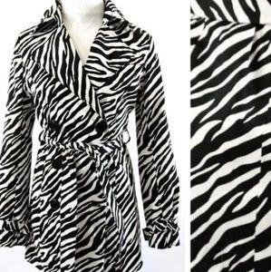 Vertigo Paris Zebra Trench Coat XS